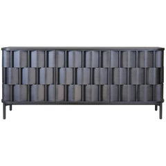 Black Credenza from Ringvide, Solid Birchwood and Birchveneér, Scandinavian
