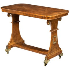 Regency Period Satinwood End Support Table with Figured Ormolu Mounts