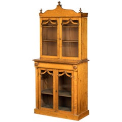 Early 19th Century Burr Maple Bookcase of Very Small Proportions