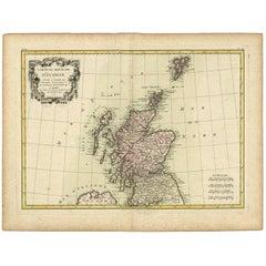 Antique Map of Scotland by R. Bonne, 1771