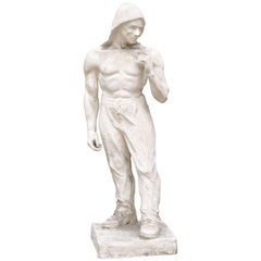 Plaster Model of the Statue of Antwerp Docker, Female Sculptor Madeleine Duguet