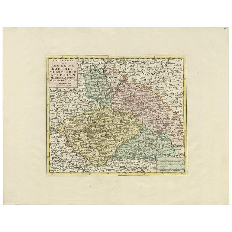 Antique Map of Czech Republic by I. Tirion, 1747