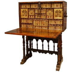 Early 17th Century Spanish Vargueno on Stand