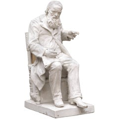 Plaster Model of the Statue of H.Conscience, Belgian Sculptor Frans Joris, 1905