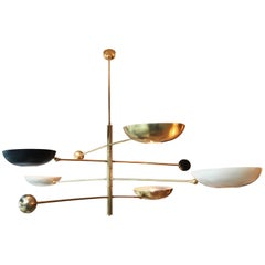 Contrapesi Midcentury Style Brass Pendant