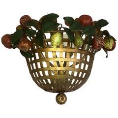 Lucienne Monique Wall Sconce Basket Fruits- Scandicci, Firenze, 1965