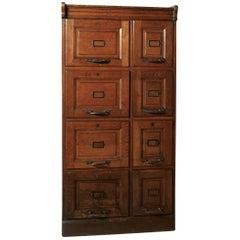 Edwardian Argyle Eight-Drawer Filing Cabinet, Made in Golden Oak