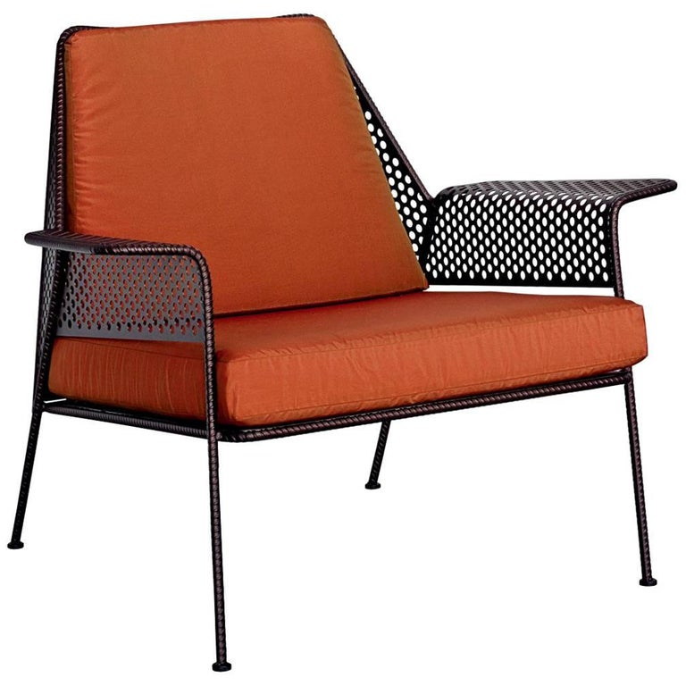 work is over lounge chair in varnished steel by moroso for diesel for sale at 1stdibs. Black Bedroom Furniture Sets. Home Design Ideas