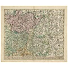 Antique Map of Switzerland by N. Visscher, circa 1690