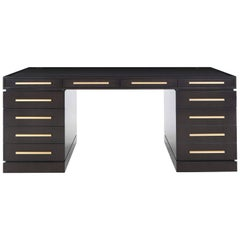 "Davidson's Contemporary, Dark Tinted Oak ""Wellington"" Writing Desk"