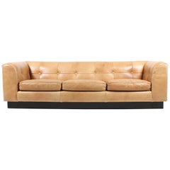 Buffalo Leather Sofa Designed by Arne Norell
