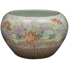 Large Japanese Porcelain Jardinière, circa 1880
