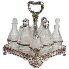 Antique George III Matthew Boulton Old Sheffield Plate Cruet Stand