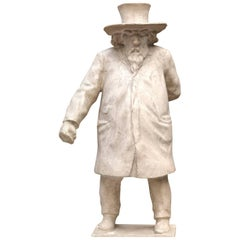 Plaster Model of the Statue of the Poet E.Hiel by Belgian Sculptor J.F.Van Hamme