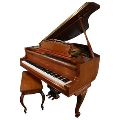 Art Case Young Chang Player Piano 1986, Queen Anne Style Legs