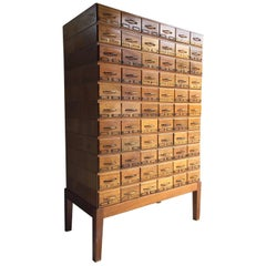 Midcentury Chest of Drawers Haberdashery Industrial Loft Style Oak