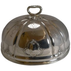 English Old Sheffield Plate Meat or Food Dome, circa 1840