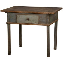 Antique Rustic German Painted Workbench or Writing Table, circa 1790