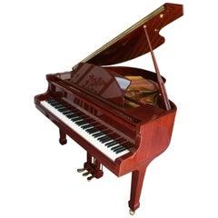 Pearl River Baby Grand Piano 2003 High Gloss Red Mahogany
