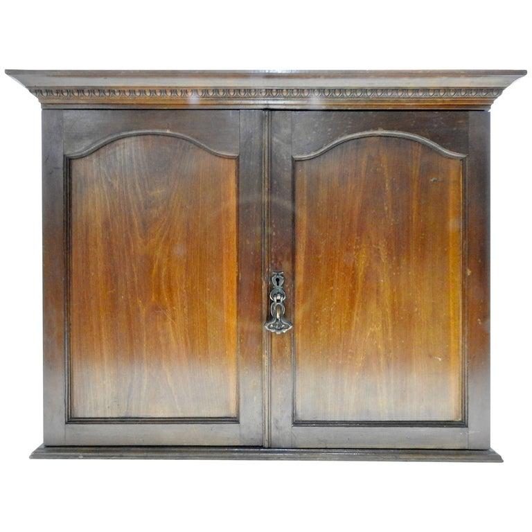Early 20th Century Walnut Wall Cabinet