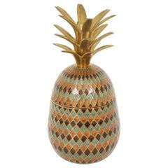 Cloisonne  Diamond Pattern Pineapple Ice Bucket