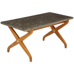 Stone Top Coffee Table by David Rosen for Nordiska Kompaniet