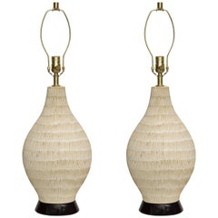 David Cressey Incised Ceramic Lamps
