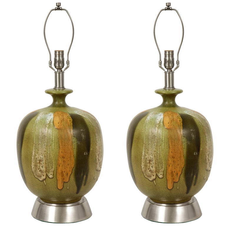 Italian Earthtone Glazed Lamps