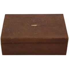 Cocoa Brown Shagreen Box