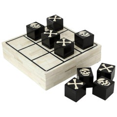 Bone Inlay Tic Tac Toe Game