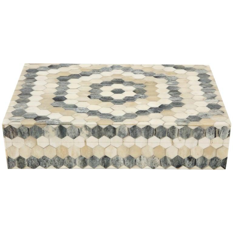 Geometric Bone Inlay Box