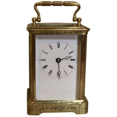 Engraved Brass Carriage Clock