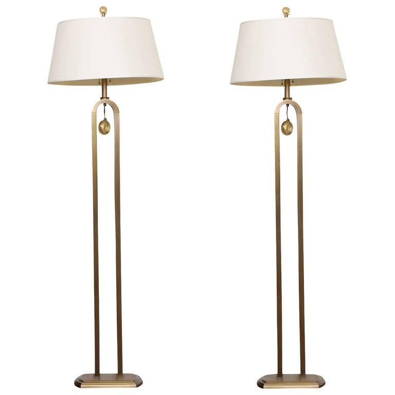 """Pair of Laura Kirar for Baker """"Syro"""" Modern Floor Lamps"""