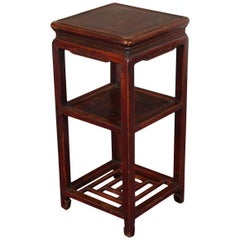 Fine Antique Chinese Qianlong Tiered Wood Stand