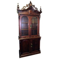 19th Century American Victorian Walnut Cupboard