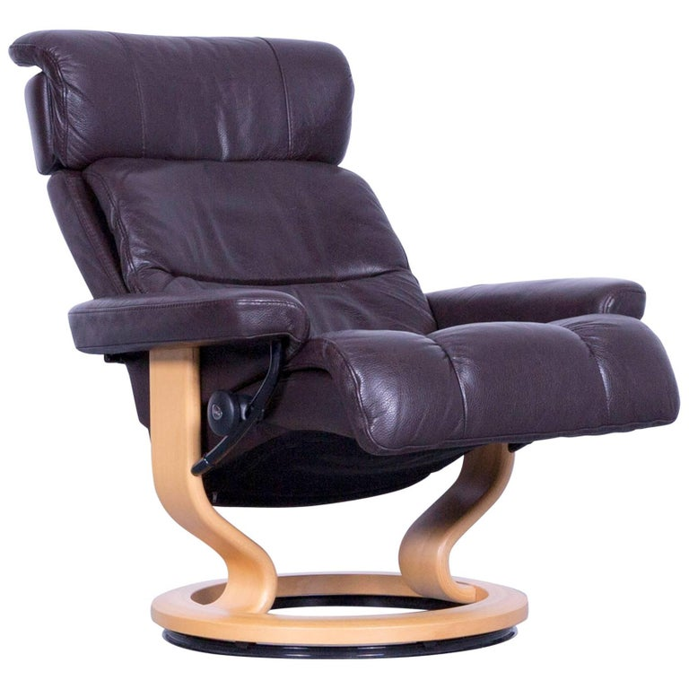 Ekornes Stressless Memphis Armchair Brown Leather Modern