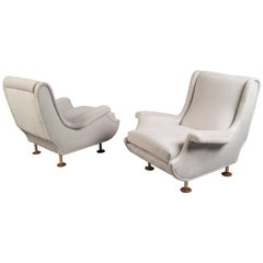 Pair of Lounge Chairs by Marco Zanuso, Italy, 1950s