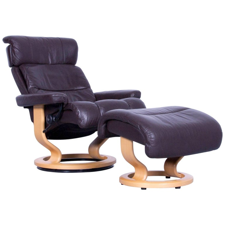 Ekornes Stressless Memphis Armchair Set Brown Leather
