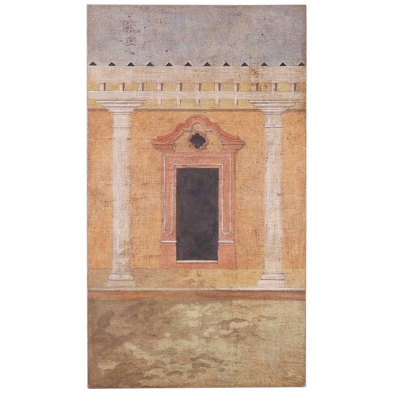 fresco style oil painting on burlap by jacques lamy for sale at 1stdibs