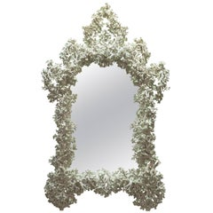 Monumental Plaster Mirror, France, Contemporary
