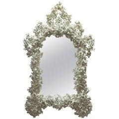 Monumental Plaster Mirror, France, 1970s