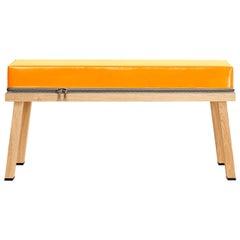 Visser and Meijwaard Truecolors Bench in Orange PVC Cloth with Zipper