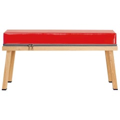 Visser and Meijwaard Truecolors Bench in Red PVC Cloth with Zipper