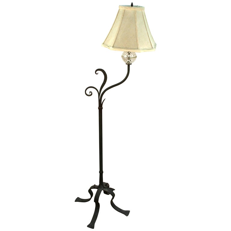 Mid Century Modern Wrought Iron Standing Lamp For