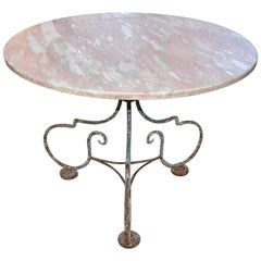 French Iron Bistro Table