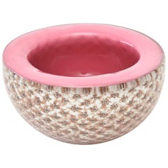 Italian Murano Midcentury Fratelli Toso Glass Bowl