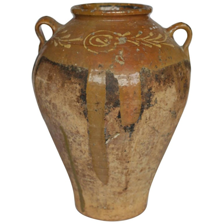 Early 19th-Early 20th Century Italian Terracotta Olive Jar, circa 1810-1910 For Sale
