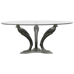 French Brass Bird Coffee Table