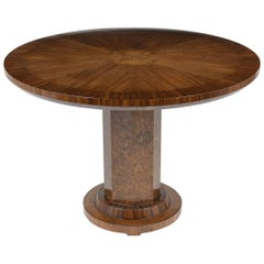1960s French Art Deco-Style Round Center Table