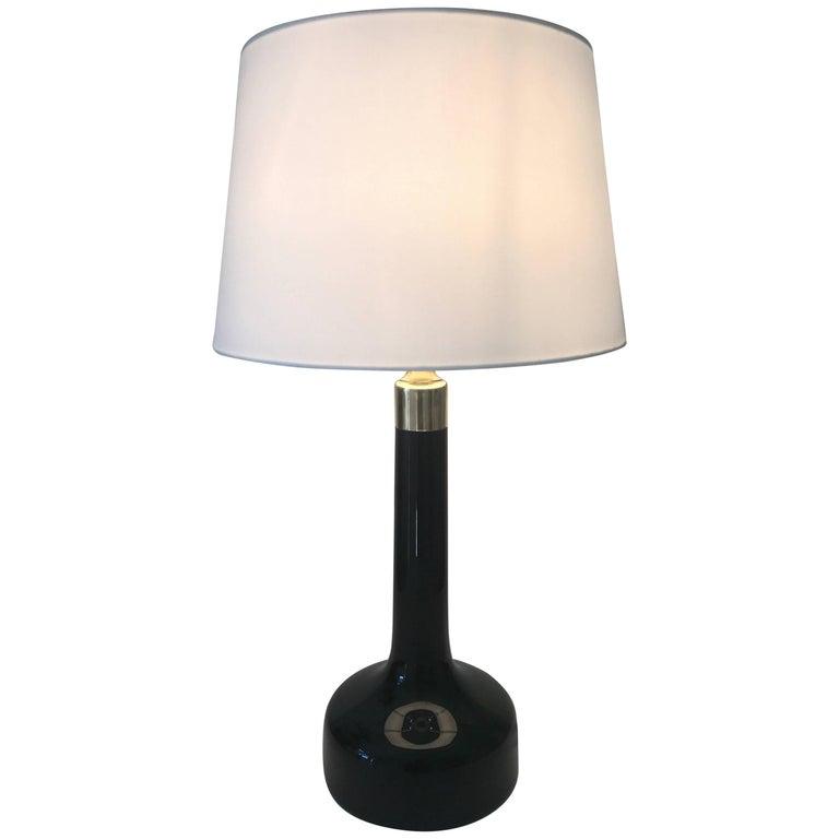 Large Danish Art Glass Le Klint Table Lamp by Gunnar Biilmann-Petersen Model 302